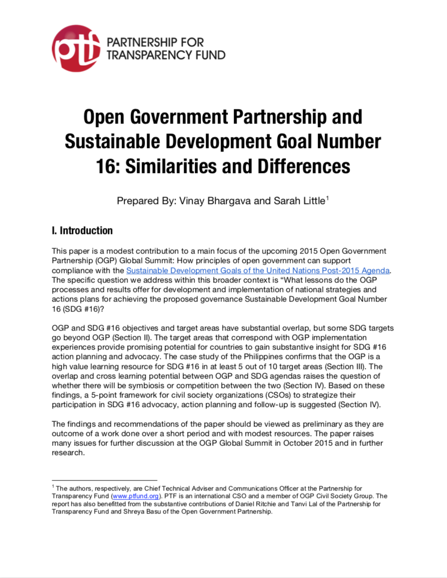 Publications | Partnership for Transparency Fund